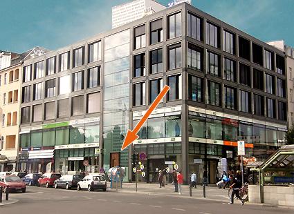 Foto: Das Ärztehaus am Stuttgarter Platz 1 in Berlin Charlottenburg.